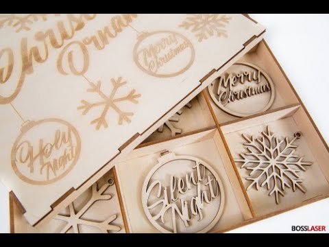 DIY Laser Cut Christmas Ornaments w/ Storage Box - Free File Download
