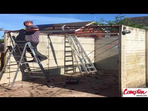 asbestos-garage-demolition-video,-concrete-garage-removal