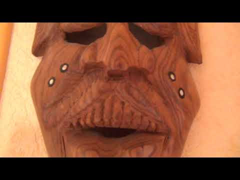 Dangerous African Voodoo Masks with Demons and Pharaonic Symbols on them