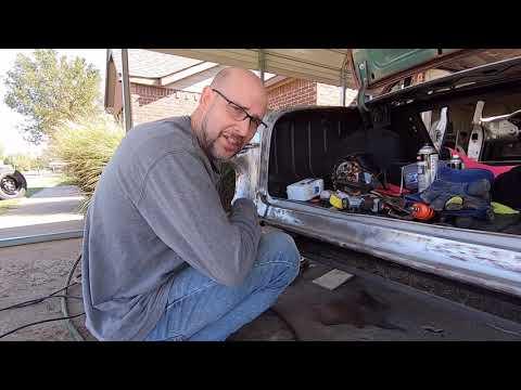 DIY Tail pan metal repair on 1955 Chevy.