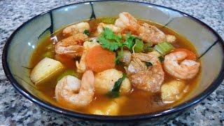 Receta Caldo de Camaron, receta familiar comida Mexicana