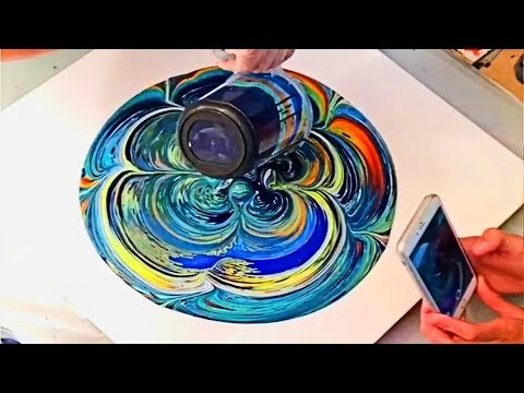 ★ Satisfying Acrylic Pouring / Fluid Acrylic Painting / NEW 2018