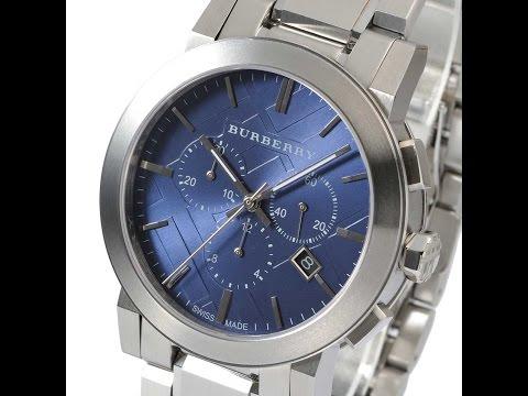 City Mens Review バーバリー Burberry Watch ブルー レビュー Bu9363 メンズ Blue The シルバー 腕時計 Silver b6fYy7g