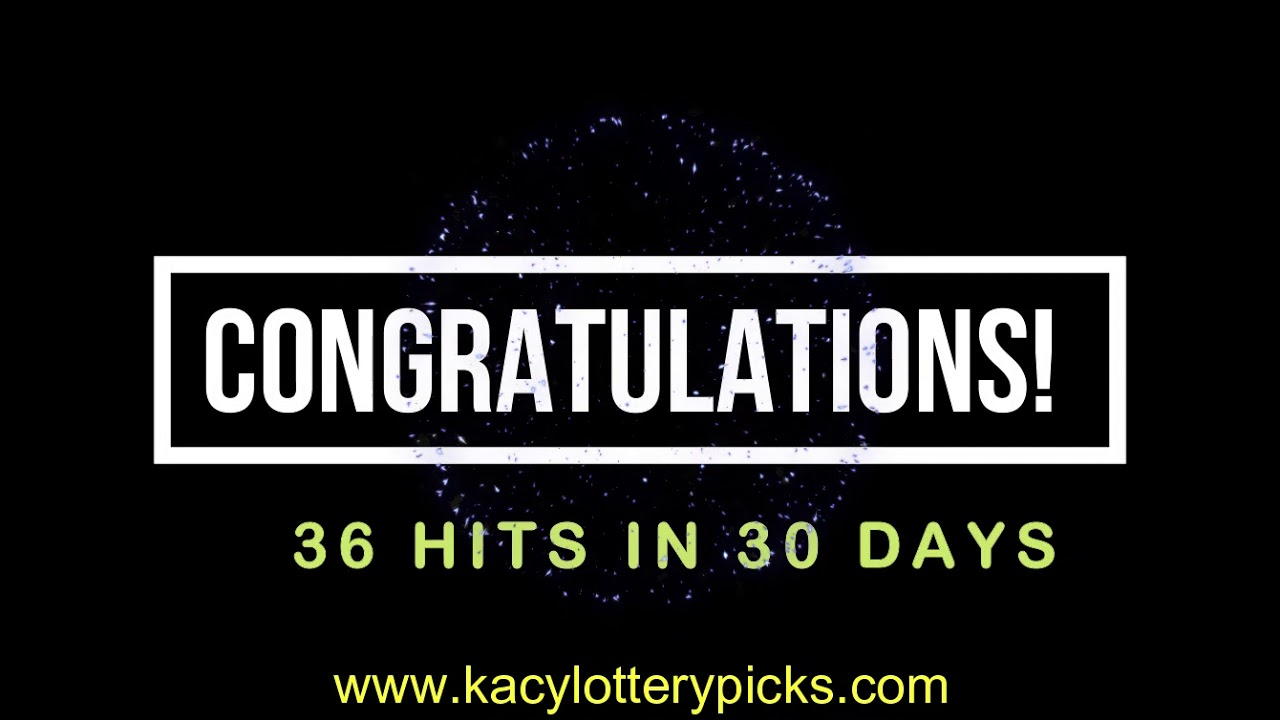 36 HITS IN LESS THAN 30 DAYS WITH LUCKY NUMBERS GET YOURS TODAY
