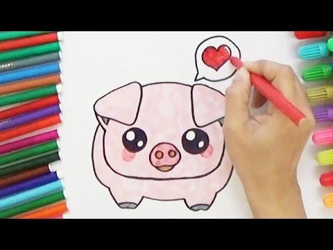How to Draw a Cute Pig - Cute and Easy | BoDraw - YouTube
