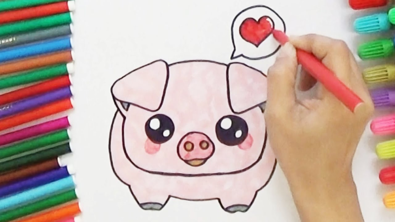 How to draw a cute pig cute and easy bodraw