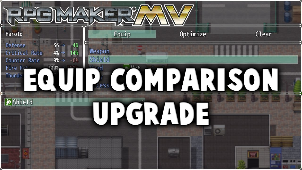 Equip Comparison Upgrade Plugin - RPG Maker MV