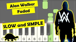 Download lagu Faded easy slow piano tutorial right hand
