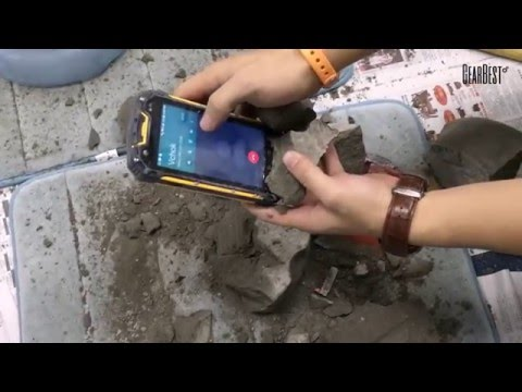 Ultimate Cement Test of VCHOK IP68 4G Smartphone - Gearbest.com
