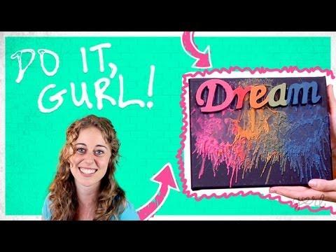 Melt Crayons Into Beautiful Canvas Art! - Do It, Gurl