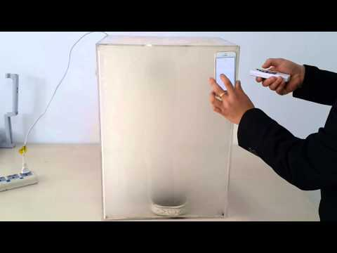 air purifier smoking test-K02 from Olans