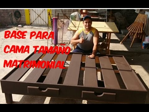 Base para cama matrimonial youtube for Como hacer una base de cama de madera