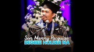 Sen. Manny Pacquiao, degree holder na   NXT