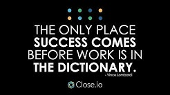 Sales motivation quote: The only place success comes before work is ...