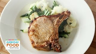 Soy Ginger Pork Chops With Stir-fried Bok Choy - Everyday Food With Sarah Carey