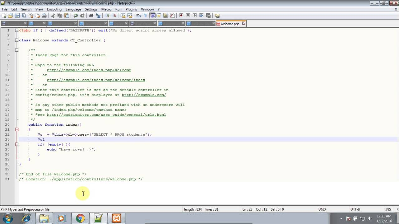 PHP error - can't use method return value in write context