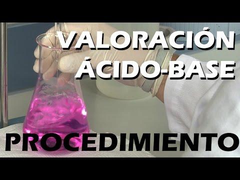 VALORACIÓN ÁCIDO-BASE: EXPERIMENTAL