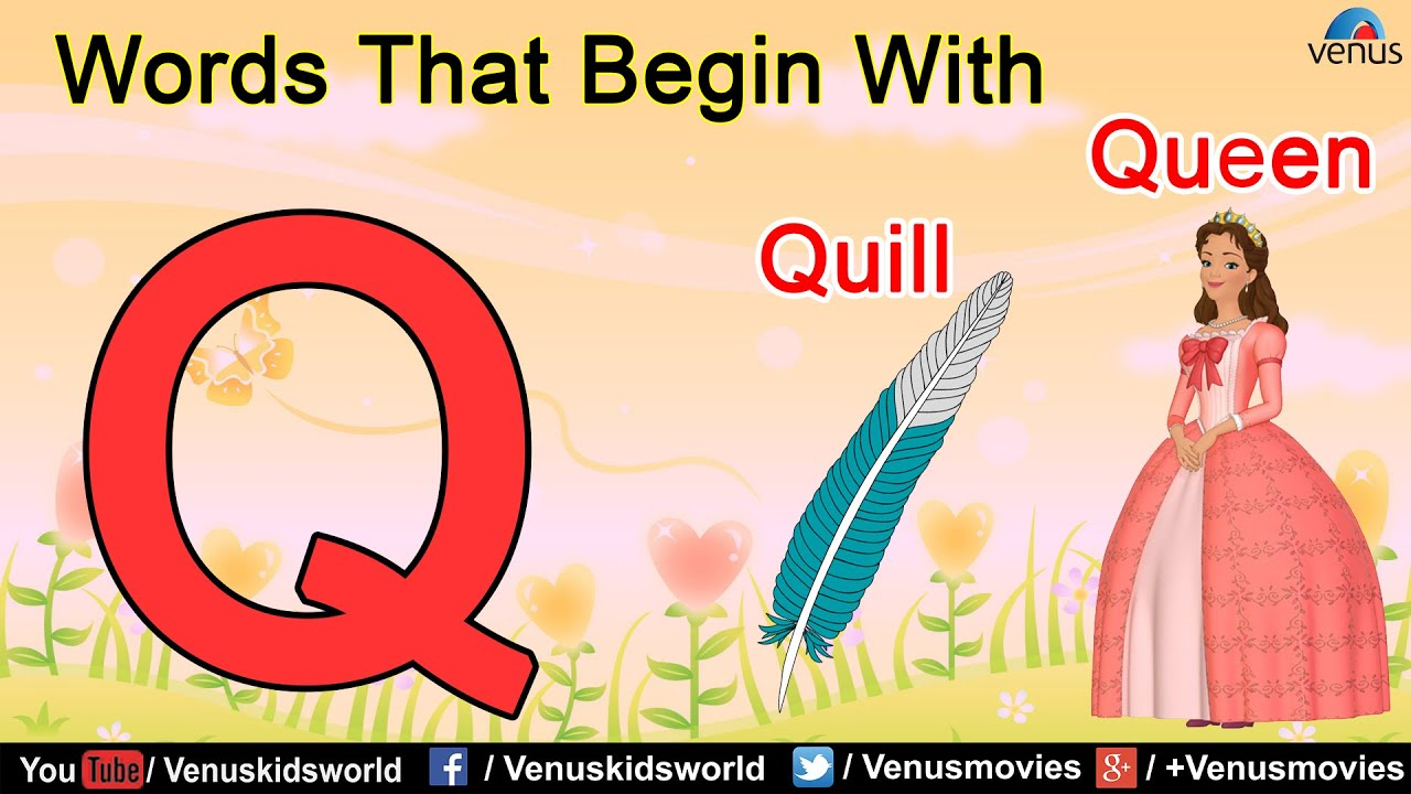 Words That Begin With Q Youtube