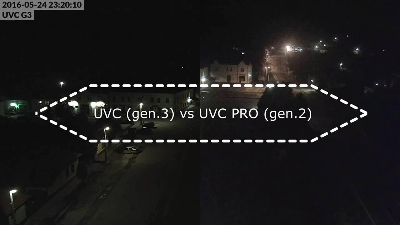 UBNT UVC Pro vs G3 - 30fps / 6000kbps / 1080p / NIGHT comparison