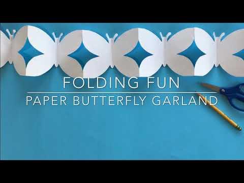 Paper Butterfly Garland