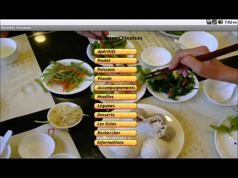 Cuisine chinoise recettes app youtube - Cuisine chinoise recette ...