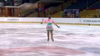 2015 ISU Jr. Grand Prix - Torun Ladies Free Skate Polina USTINOVA CYP