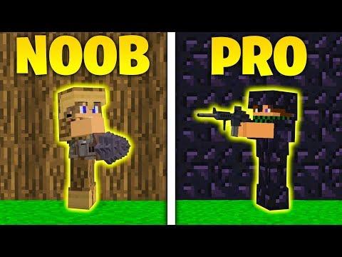 NOOB contro PRO - SFIDA OSSIDIANA VS LEGNO - Minecraft ITA