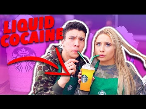 WE DRANK LIQUID COCAINE ???! 😱 ( GONE WRONG ) - TESTING STARBUCKS 'SECRET' MENU