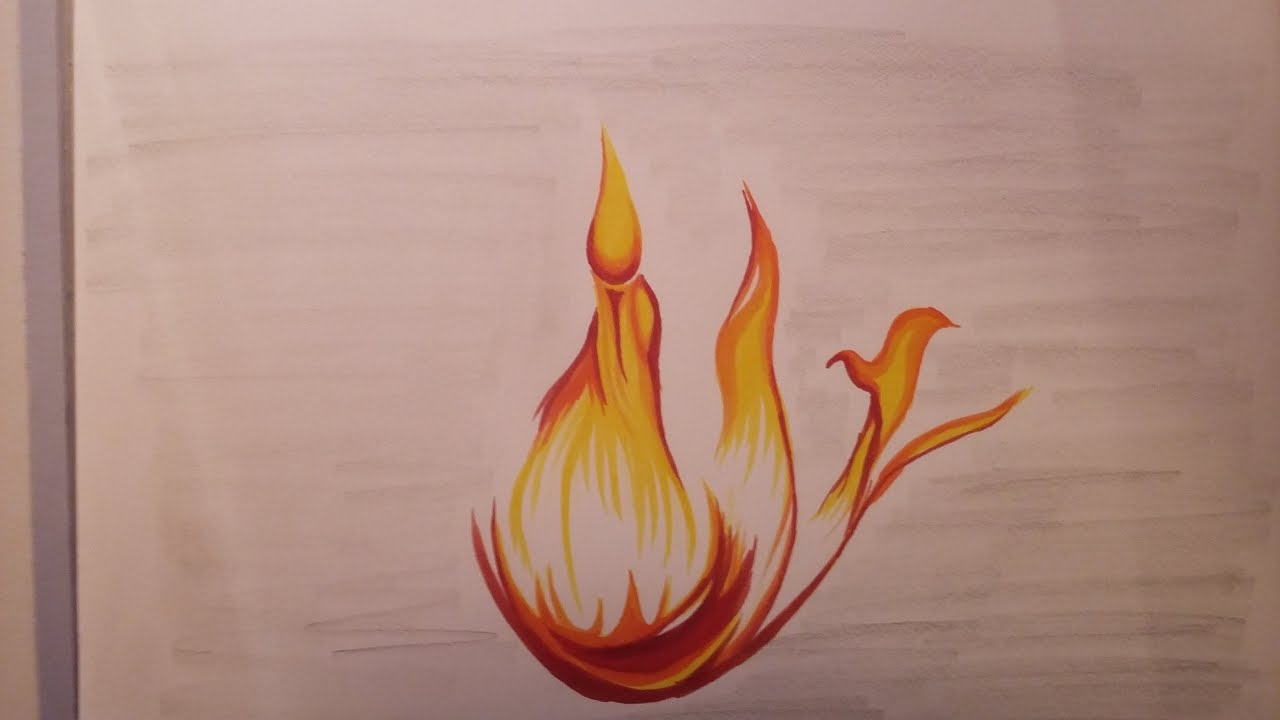 Tuto Comment Dessiner Une Flamme Youtube