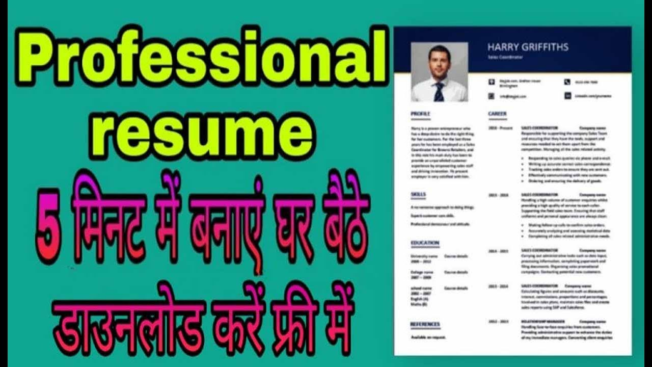 Resume Format For Job Interview 5 म नट म Resume