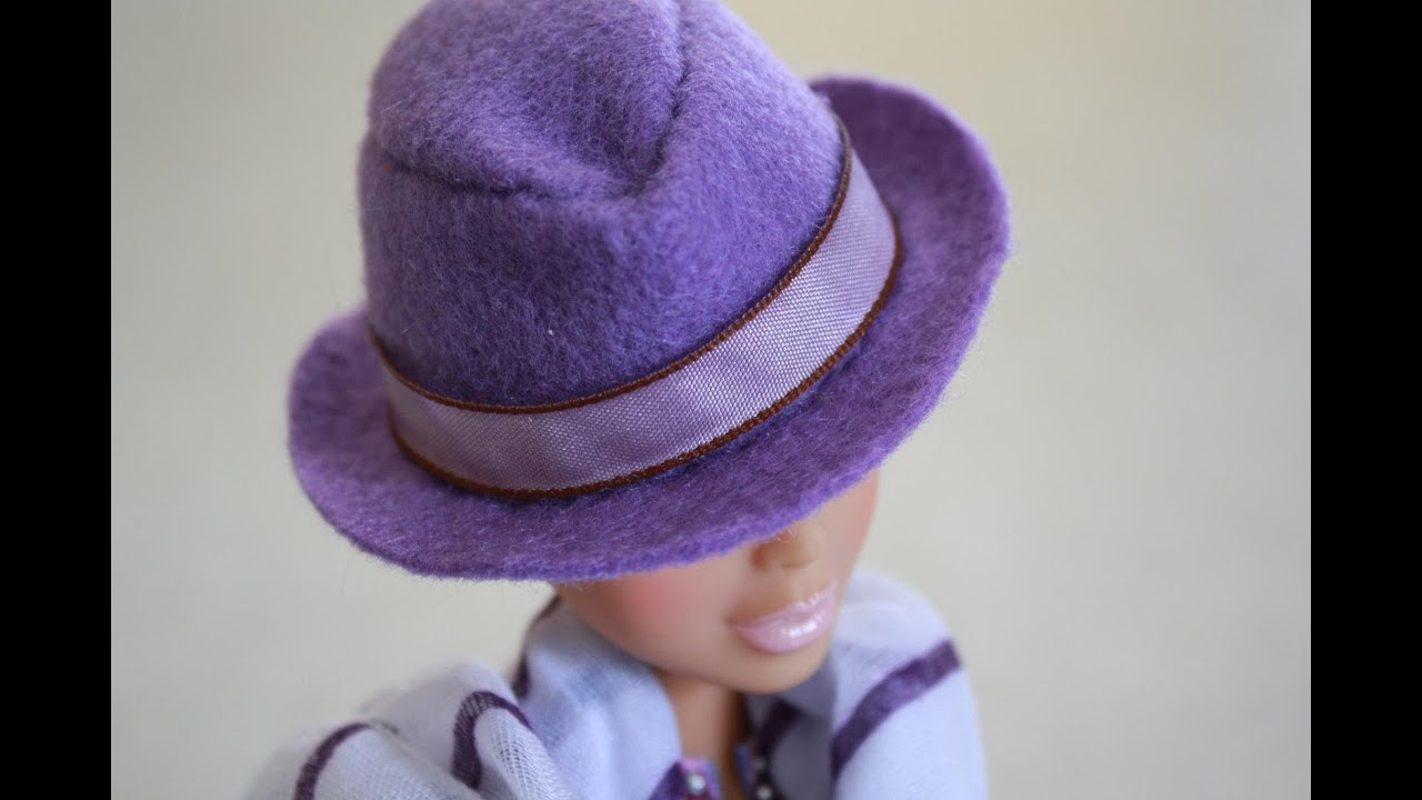 7109d632f How to Make a Doll Size Fedora - Doll Crafts
