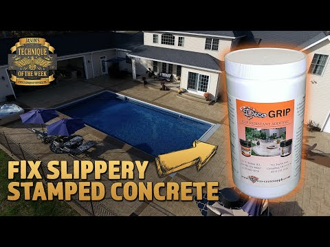 hqdefault - Fixing Slippery Stamped Concrete! - Concrete Floor Pros