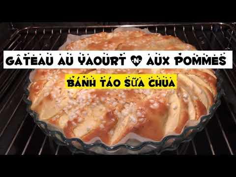 🥧recette-gâteau-au-yaourt-&-aux-pommes- -bánh-táo-cực-dễ-làm-không-cần-máy-đánh-trứng
