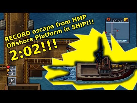 The Escapists 2 - Record Escape from HMP Offshore Platform Prison in 2:02!!!