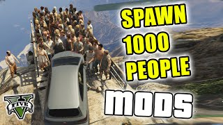 Repeat youtube video GTA 5 Mods - PUSHING 1000 PEOPLE OFF MT. CHILIAD - (GTA V PC - Fun With Mods)