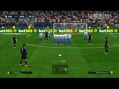 PES 2017 | Malaga vs Real Madrid | Ronaldo Free Kick Goal & Penta Trick | Gameplay PC