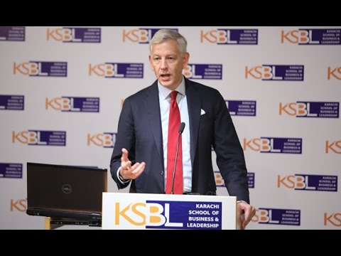 Dominic Barton of McKinsey speaks at KSBL Karachi