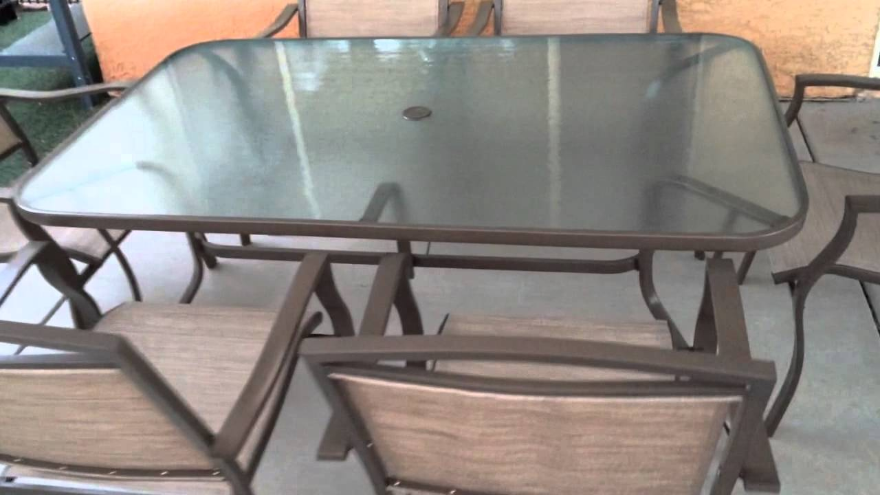 mainstays sand dune 7 piece patio dining set - YouTube