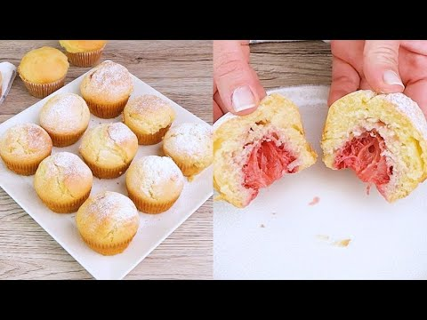 Strawberry muffins the sweet and fragrant dessert to try now