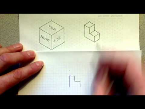 Creating orthographic projection from an isometric view