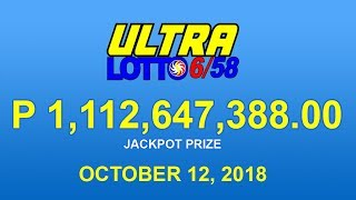 PCSO Ultra Lotto 6/58 Result October 12, 2018 - Lotto Results Today