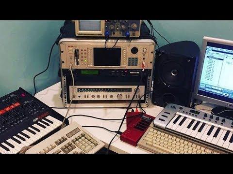 Atari ST MIDI music samplings and synthesizer studio setup! -  SIMPLETHINGSTOYS