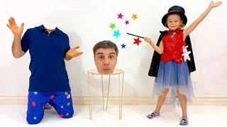 Nastya y papá muestran trucos para niños