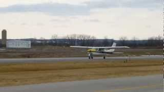 Jerry in Cessna Cardinal 177 RG C-GCUS Take-off at CZBA March 24, 2013