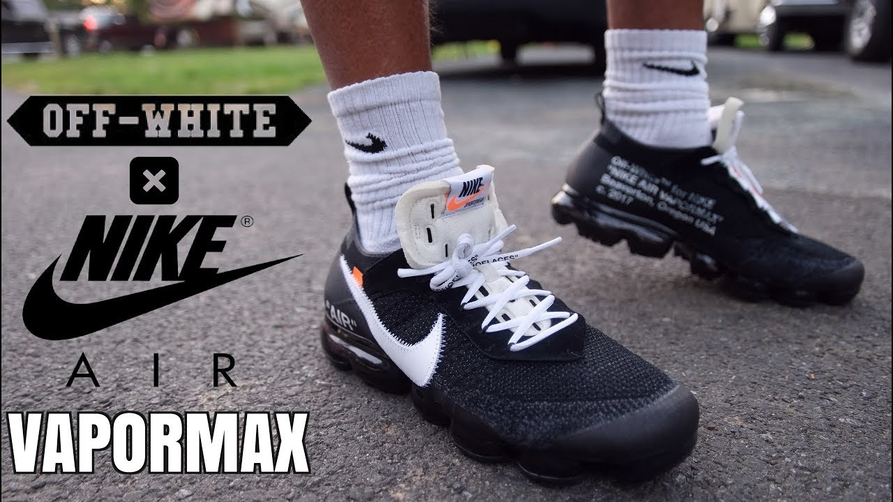 finest selection fd757 a0181 OFF WHITE X NIKE AIR VAPORMAX ON FEET