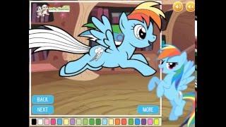 Мультик игра Мой маленький пони: Книга раскраска (My Little Pony Coloring Book)