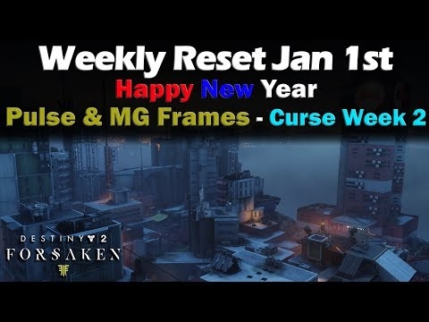 Weekly Reset Jan 1st - Blast Furnace and Hammerhead Weapon Frame - Destiny 2 Forsaken thumbnail