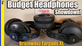 Monoprice Retro vs Presonus HD7 featuring Brainwavz Earpads