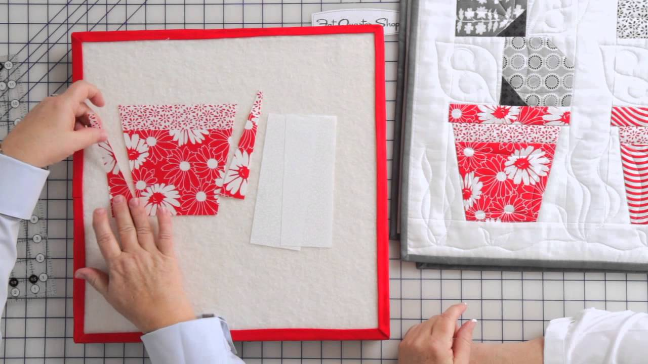 How To Make A Flower Pot Block From Poison Ivy Quilt Pattern By Me