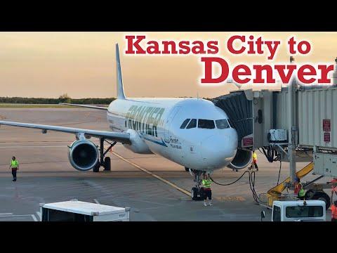 Full Flight: Frontier Airlines A321 Kansas City To Denver (MCI-DEN)